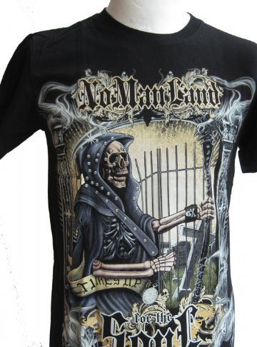 No Mans Land For The Soul ' Glow In The Dark ' T Shirt With Large Colour Back Print